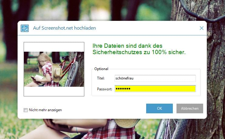 Screenshots hochladen