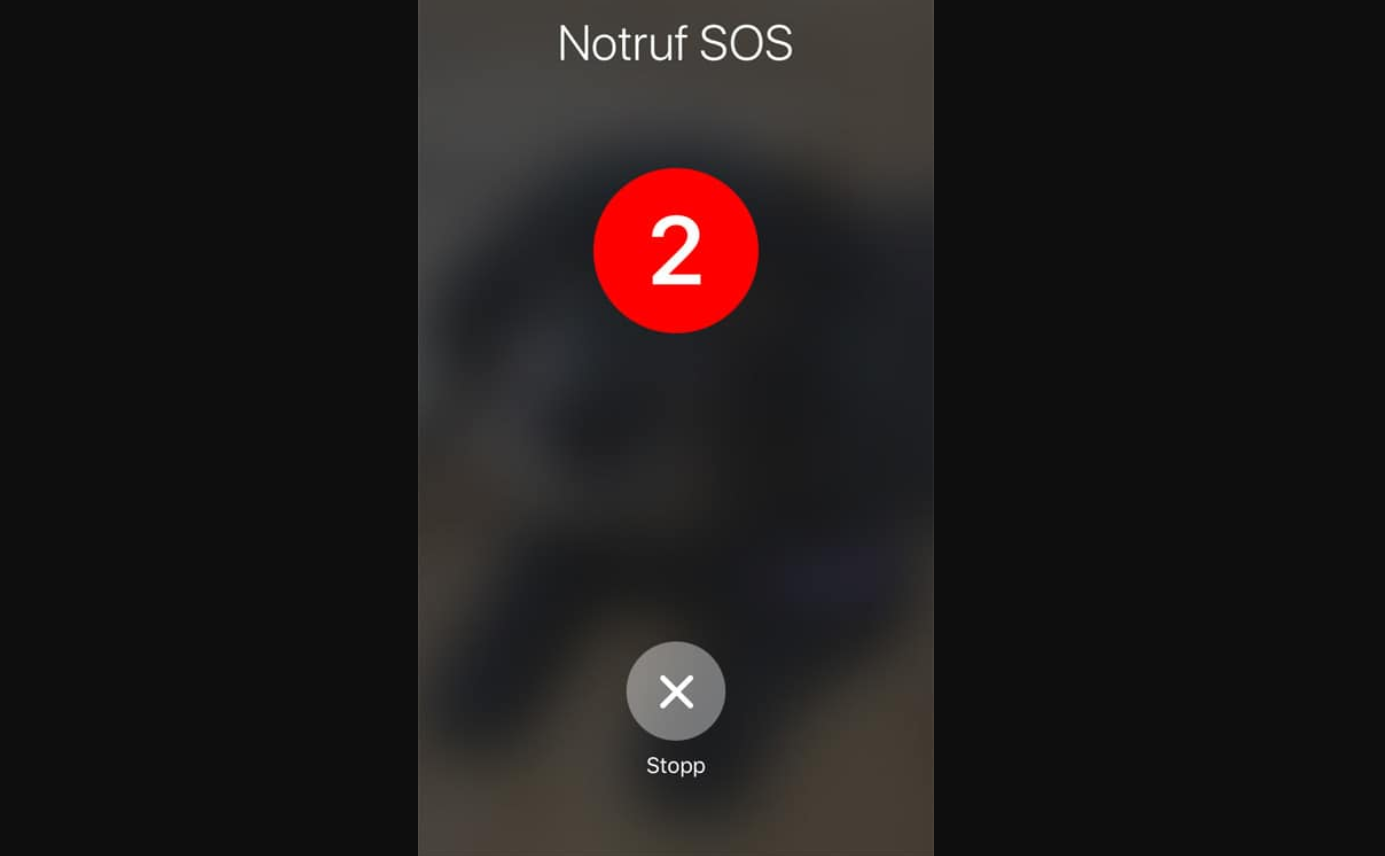 ios11 notruf funktion