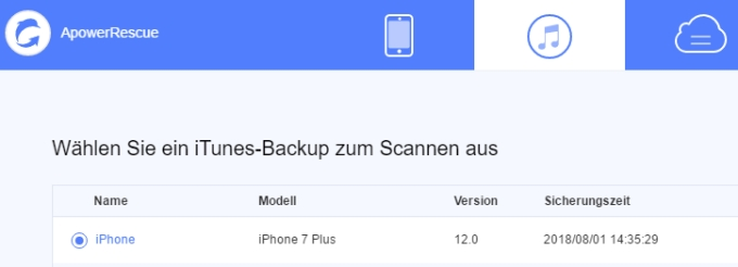 ITunes Backup wiederherstellen